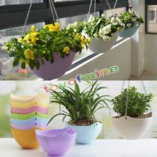 Hanging Flower Pot Chain Plastic Planter Basket Garden Flexible Home Decoration