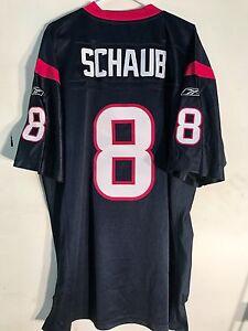 Reebok Authentic NFL Jersey Houston Texans Matt Schaub Navy sz 52