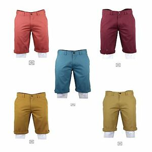 """Men's New Smart Fit Casual Cotton Holiday Summer Chino Shorts from 32"""" - 40"""""""