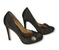 ⭐⭐⭐ Badgley Mischka Odell Gray Satin Pumps, Women's Shoes, Size 6 ⭐⭐⭐