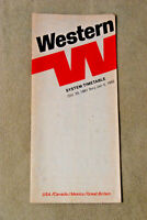 Western Airlines Timetable - Oct 25, 1981 thru Jan 5, 1982