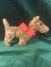 Mohair Straw-filled Terrier Dog Stuffed Toy -Movable Head~Merry Thoughts~England