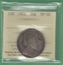 1906 Canadian 50 Cents Silver Coin - ICCS Graded VF-30