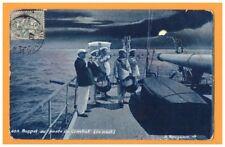 BATEAU DE GUERRE / Scene de bord / Rappel des MARINS au POSTE de COMBAT de nuit