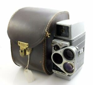 Bell And Howell Autoset Turret Movie Film Cine Camera And Original Leather Case