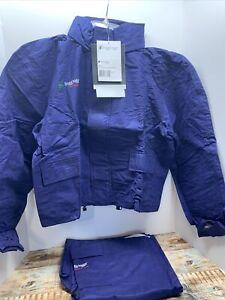 Frogg Toggs Pro Advantage Mens Small Signature Bibb Rain Suit Jacket Pants Black