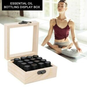 16/25/36/64 Slots Wooden Essential Oil Storage Box Carry Organizer Essential NEW