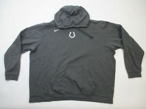 Indianapolis Colts Nike Sweatshirt Men's Dark Gray Cotton Used 3XL