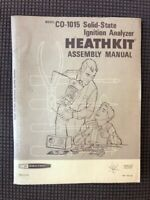Heathkit Manual CO-1015 Ignition Analyzer Assembly Manual - 74 Pages!