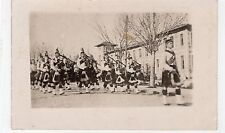 Picture postcard of Cameron Highlanders Pipe Band (C7135).