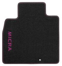 Genuine Nissan Micra 08/13 > in VELLUTO Auto Tappetino Set-Viola Logo (KE7551H3BP)