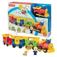 Fisher Price Little People - Load & Go Train Play Set with Eddie & Puppy Figures