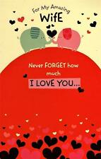 Amazing Wife Cute Valentine's Day Greeting Card Lovely Valentines Cards