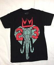 Hard Ten 10 Size Small Men's Black Elephant Crown 23 Short Sleeve Lebron
