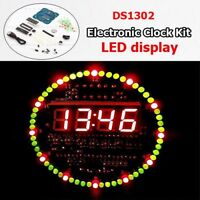 DIY Kits DS1302 Rotating LED Electronic Temperature Display Board Digital Clock