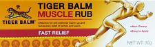 Tiger Balm Muscle Rub Cream Fast Relief joint pain Sprain and aches  30g