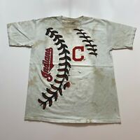 Liquid Blue Cleveland Indians T-Shirt Youth Size XL All Over Print MLB Baseball