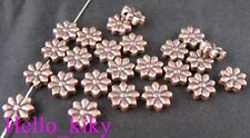 70 Pcs Antiqued copper plt carved flower spacer beads A82