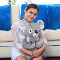 38cm Sitting Plush Koala Teddy Bear Stuffed Animal Baby Toys Doll Soft Gray Gift