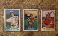 (3) Tim Wallach 1982 Topps Fleer Donruss Rookie Card Lot Expos RC
