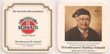 """Schnaitl Bier, Gundertshausen - alter Bierdeckel """"Matthias Wirzinger"""""""