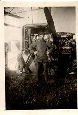 WW1 Btg AEROSTIERI RARA FOTO DI UN SOLDATO DAVANTI ALL'AEROSTATO  ftg3