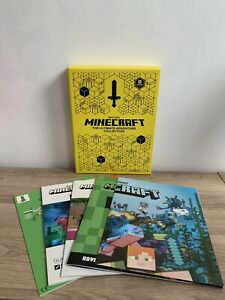 Minecraft The Ultimate Adventure Collection - 3 books, Poster & Model BNIB