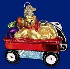Toy Wagon Ornament Glass Old World Christmas 44039 7
