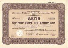AG der Chemischen Produkten-Fabriken Pommerensdorf-Milch 1932 Stettin / Szczecin