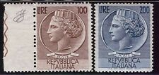 ITALIA REPUBBLICA 1954 - TURRITA/SIRACUSANA RUOTA n. 747/748 INTEGRI SPL € 270