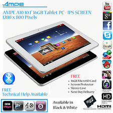 "Ampe a10/sanei N10 10.1"" 1280 X 800 Pantalla Ips, 16gb, Android 4.0 Tablet Pc"