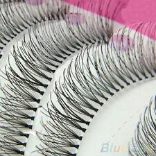 10Pairs  Natural gruesas largas pestañas ojo pestañas voluminosas de maquillaje