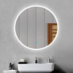 LED Wandspiegel Rund 60 cm mit Beleuchtung Badezimmer Touch Licht Badspiegel