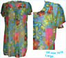 NEW BLUE Floral sheer Chiffon Kaftan beach/lounge Cover Up Dress UK 14/16 Large