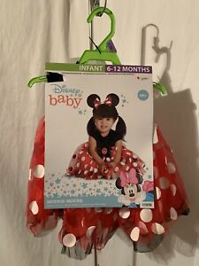 Disney Baby Infant Minnie Mouse 6-12 or 12-18 Months 2 Pc Halloween Costume NWT