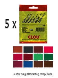 Clou Beutelbeize 5 x 12g Holzbeize Holz Beize Holzschutz Pulverbeize Möbelbeize
