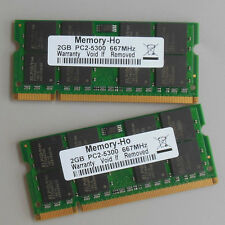 4GB 2X2GB DDR2 667 667Mhz PC2 5300 So-dimm Speicher Laptop Ram Notebook CL5.0