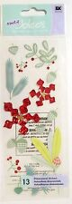 Floral Holiday Christmas Decorations Snowflakes Jolee's 3D Sticker