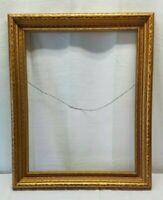 Vintage Antique Gold Gilt Picture Portrait Painting Frame Wood 22x17 Ornate Box