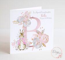 PERSONALISED PETER RABBIT Birthday Card - Daughter Granddaughter Girl FLOPSY