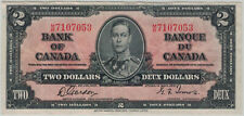 Bank of Canada - 1937 issue $2 King George VI - Gordon / Towers