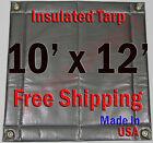 "10' x 12' Insulated Poly Tarp 1/4"" Foam Core Concrete Padding Wall Cushion Kiln"