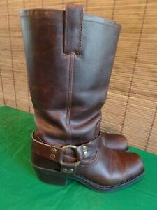 """VTG 13"""" Leather Harness Biker Riding Boots Women's 8 1/2 by Mossimo Giannulli"""