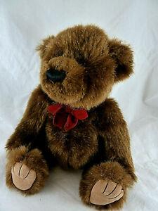 "Bath & Body Works Classic Teddy Bear Chocolate Brown Stitched Nose Felt Pads 12"""