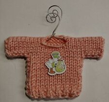 Peach Baby Themed Mini Sweater  Christmas Ornament Style AA