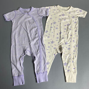 Moon and Back by Hanna Andersson Lot Toddler Girl 80 (18-24M) One-Piece Pajamas