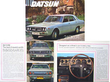 Datsun Nissan Skyline 240K GT Saloon 1973-74 Original UK Sales Brochure