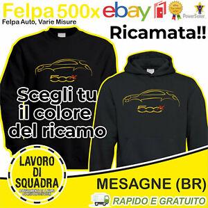 Felpa Fiat 500x 500 Suv Crossover Sport Ricamo Car Italian Automobile Auto Italy
