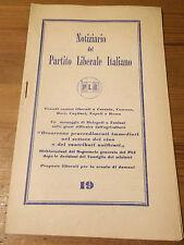 NOTIZIARIO DEL PARTITO LIBERALE ITALIANO MALAGODI FANFANI 1960  16-66