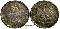 MEXICO Silver 1877 ZS S 25 Centavos Mintage-350,000  Zacatecas Mint KM#406.9